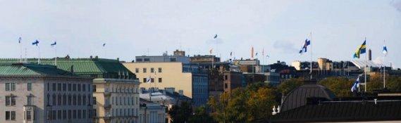 Flaggen über Helsinki
